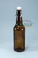 """Бутылка стеклянная 500мл с бугельной пробкой коричневая """"Litva"""" (10022)"""