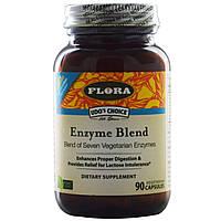 Flora, Udo's Choice, смесь ферментов, 90 капсул в растительной оболочке