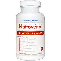 Arthur Andrew Medical, Наттовена, очищенная наттокиназа, 200 мг, 180 капсул