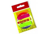 Стикеры-закладки Kores, 12х45, пластиковые