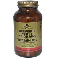 Solgar, Пивные дрожжи, зерна 7 1/2, с витамином В12, 250 таблеток