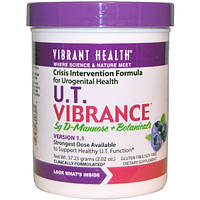 Vibrant Health, U.T. Vibrance, 5 г D-манноза + растительные компоненты, версия 1.1, 2,02 унции (57,25 г)