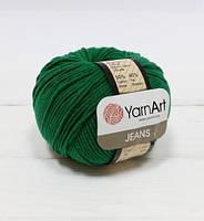 Пряжа YarnArt Jeans изумруд 52 - 1 шт