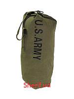 Баул вещевой мешок армейский  с плечевым креплением тёмно-зелёный  MFH 30505B