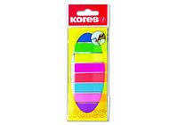 Стикеры-закладки Kores, 12х45, пластиковые, 8 цветов,