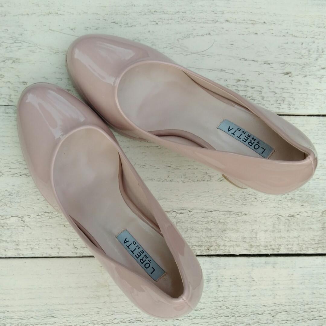 Купить туфли лакированные на низком каблуке