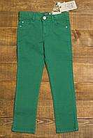 Детские подростковые летние джинсы на 13-14 лет изумрудные р.157