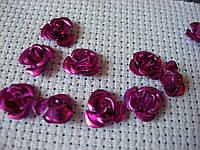 Роза алюминиевая. Маджента, 13 мм