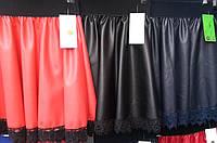Красивая модная кожаная юбка на девочку разных цветов, р 122-140