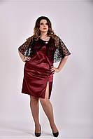 Платье женское летнее красивое батал 770485, размер 42, 44, 46, 48, 50, 52, 54, 56, 58, 60.