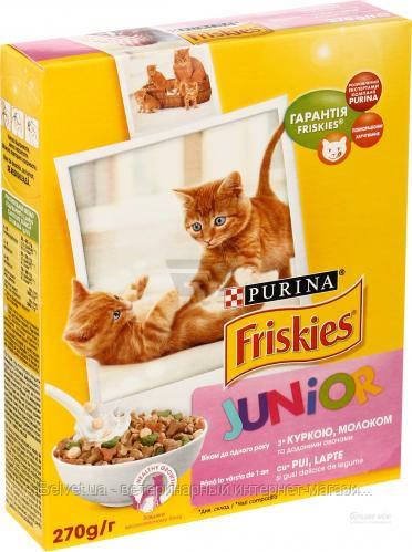 Purina Friskies Junior с курицей, морковью и молоком 0,27 кг