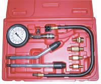 Компрессометр бензиновый, набор с гибкой, 2-мя жесткими насадками и переходниками Licota ATP-2075