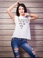 Стильная женская футболка с прорезями на спинке цвет белый p.42-50 VM1920-2