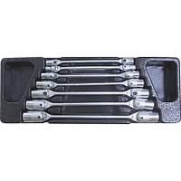 Набор ключей торцевых карданных 6 - 19 мм, 7 пр., в ложементе LICOTA ACK-384006