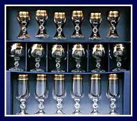 Claudia набор бокалов 18 пр. (лик.50мл,шамп.180,коньяк-250мл) Bohemia 40149/43249