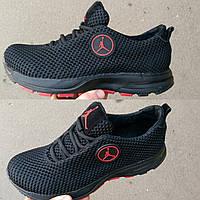 Кожаные спортивные кроссовки Jordan из турецкой сетки и подклада