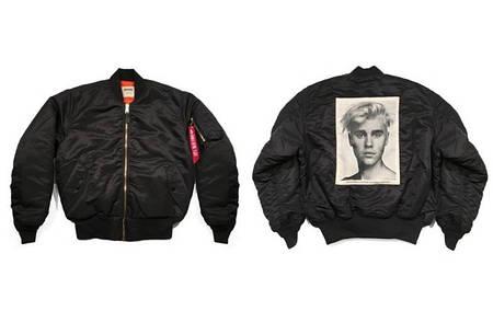 Мужской Бомбер Bieber Black| Черный лого на спине