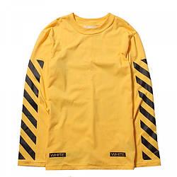 Мужская Кофта Cвитшот White Yellow| Желтый без лого