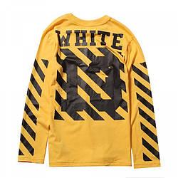Мужская Кофта Cвитшот White Yellow| Желтый White logo 13