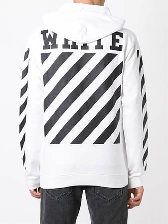 Мужская Кофта Кенгуру White Белая|White logo на спине
