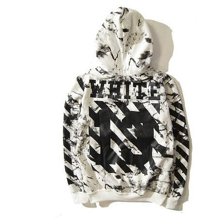 Мужская Кофта Кенгуру White Белая|White лого 13 на спине + туман