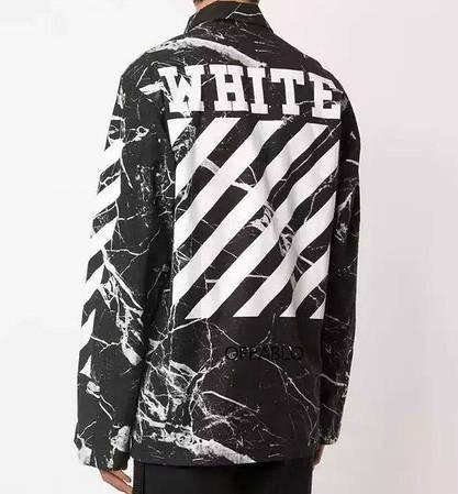 Мужская Ветровка White  Black| Черная молнии + лого на спине