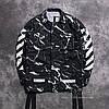 Мужская Ветровка White  Black| Черная молнии + лого на спине, фото 2