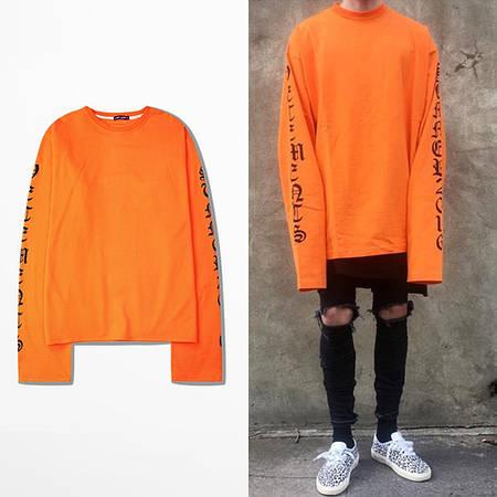 Мужская Кофта Свитшот Pablo Orange| Оранжевый рукав +