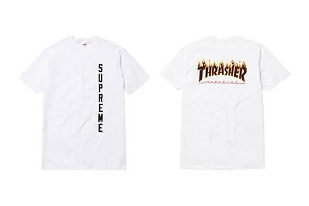 Мужские Футболки Thrasher+ Supreme White|Белый