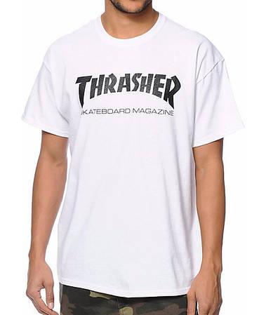 Мужские Футболки Thrasher White|Белый new logo