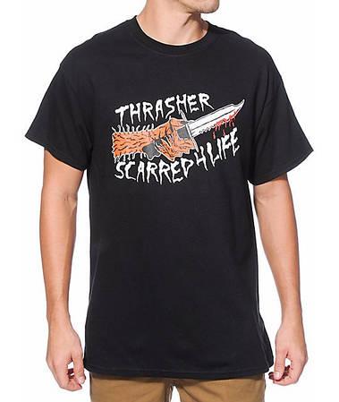 Мужские Футболки Thrasher Black Черный scarred4life