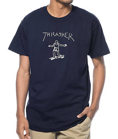 Мужские Футболки Thrasher Blue|Синий скейт