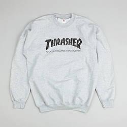 Мужские Свитшоты Thrasher Gray|Серый класик