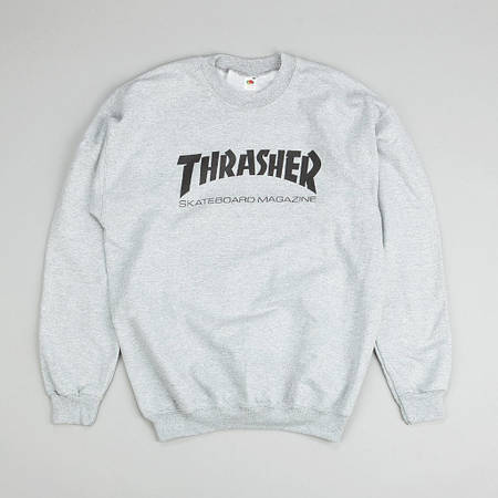 Мужские Свитшоты Thrasher Gray Серый класик