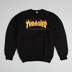 Мужские Свитшоты Thrasher Black Черный огонь