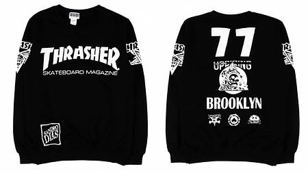 Мужские Свитшоты Thrasher Black Черный brooklyn