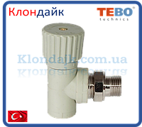 PPR Tebo вентиль радиаторный угловой D 20*1/2