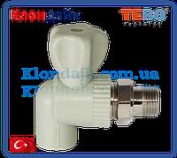 PPR Tebo кран шаровый радиаторный угловой D 25*3/4