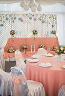Аренда персиковой скатерти Для стола диаметорм 180см