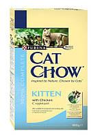 Purina Cat Chow Kitten корм для котят с курицей, 0,4 кг