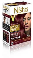 Безамиачная стойкая крем-краска для волос TM Nisha с маслом авокадо Бургунди №3,16
