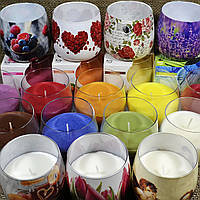 Свеча ароматическая в стекле Scented Candles в ассортименте
