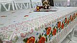 Скатерть лен Маки 140х220см , фото 3