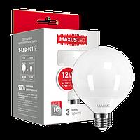 Светодиодная лампа LED Maxus G95 12W теплый свет E27 1-LED-901