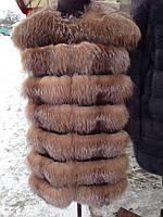 Жилет из натурального меха арктическая лиса
