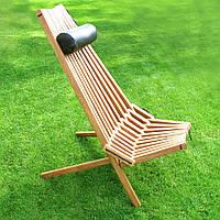 Кресло раскладное Вайлд Люкс(дуб/кожа)