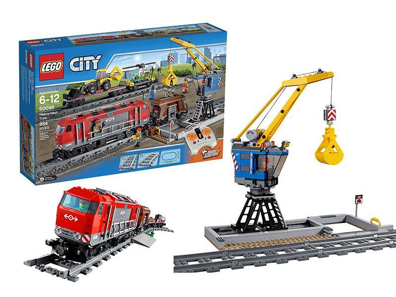 Lego City Мощный грузовой поезд 60098