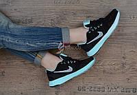 Кроссовки женские замш Nike Lunarglide 7 Running черные с мятным, Мятный, 36