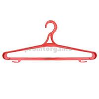 Плечики №3 большие пластиковый крючок  длина 42см, цвет ассорти, упак.10шт