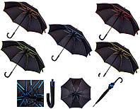 Зонт трость черный под нанесение